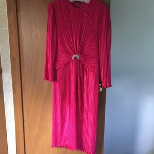 Vintage 1980s George F Couture Pleated Dress